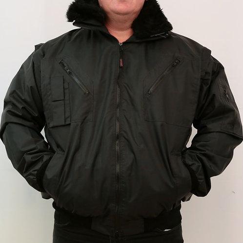 Bélelt többfunkciós kabát, kivehető béléssel és levehető ujjal.