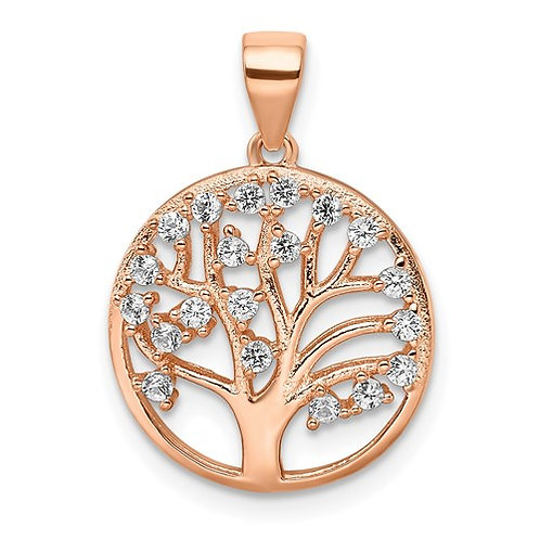 Silver Rose Tone Tree of Life