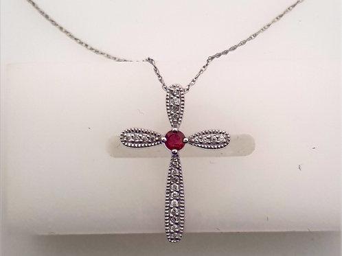 Ruby & Diamond Cross