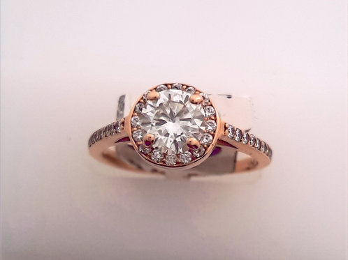 Rose Gold Diamond HaloRing