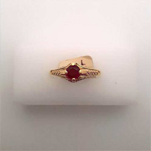 Engraved Ruby Ring