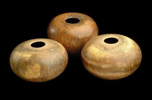 Trio of Fan palm pots