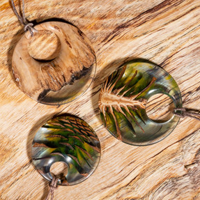 Wood and Resin Pendants