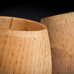 Birch leaning pots