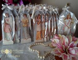 Recordatorio tríptico ángeles