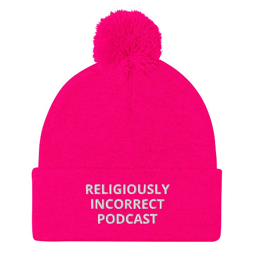 Religiously Incorrect Podcast Pom-Pom Beanie Pink