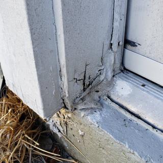 Door threashold moaisture damage.