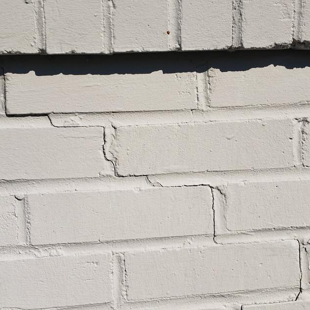 Brick veneer crack