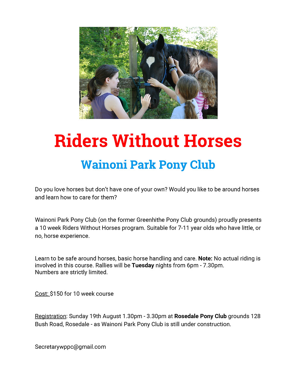 Riders Without Horses Informational Text