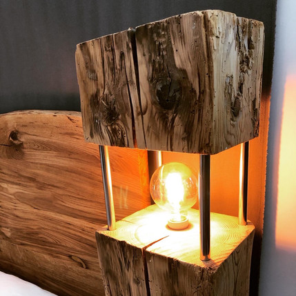 Altholz Stehlampe