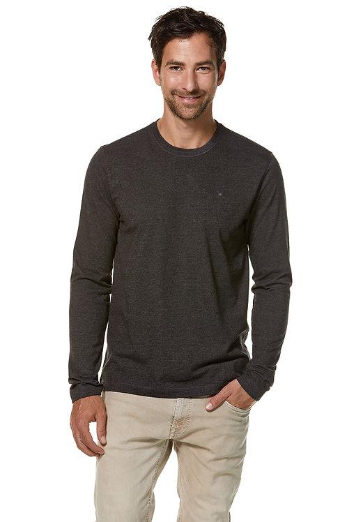 Longsleeve Shirt Mateo aus Bio-Pima-Baumwolle und Royal-Alpaka