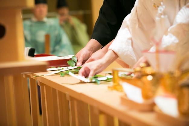 神殿での御結婚式
