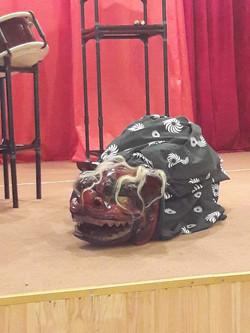 獅子舞のリハーサル