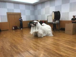 獅子舞の練習