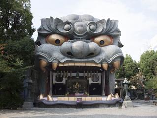 獅子舞の神社