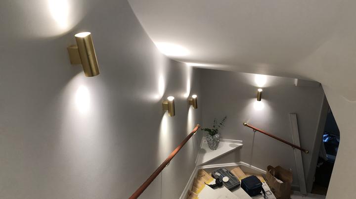 Belysning i trappa