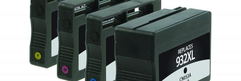 High Yield Black, Ink Cartridges for HP N9H62FN (HP 932XL/933) 4-Pack