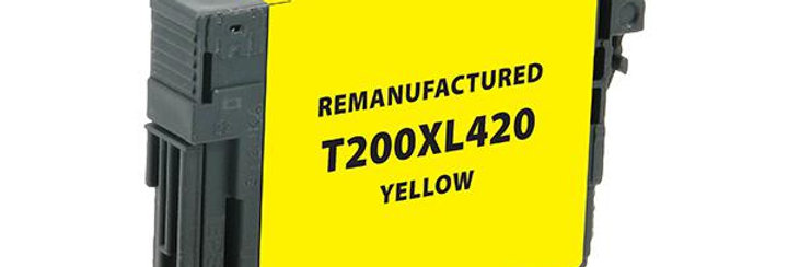 EPC Remanufactured High Capacity Yellow Ink Cartridge for Epson T200XL420