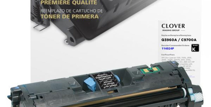 Black Toner Cartridge for HP C9700A/Q3960A (HP 121A/122A)