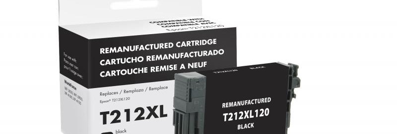 EPC Remanufactured High Capacity Black Ink Cartridge for Epson T212XL120