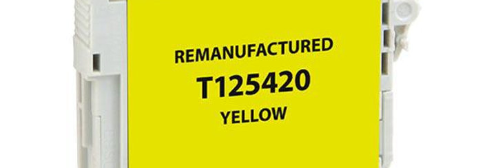 EPC Remanufactured Yellow Ink Cartridge for Epson T125420