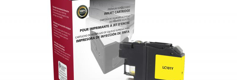 Non-OEM New Yellow Ink Cartridge for Brother LC101
