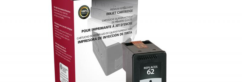 Black Ink Cartridge for HP C2P04AN (HP 62)