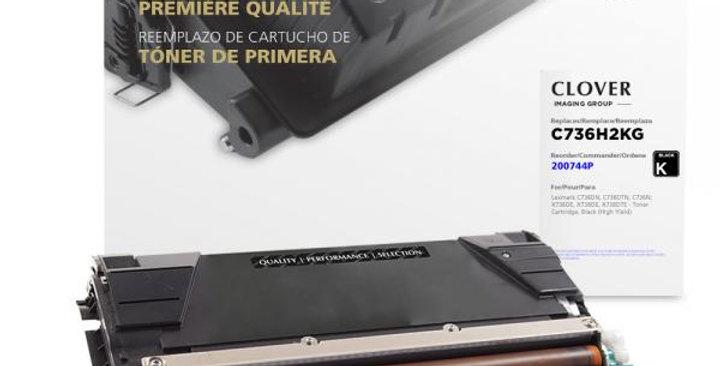 High Yield Black Toner Cartridge for Lexmark C736/X736/X738