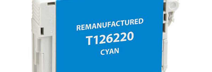 EPC Remanufactured High Capacity Cyan Ink Cartridge for Epson T126220