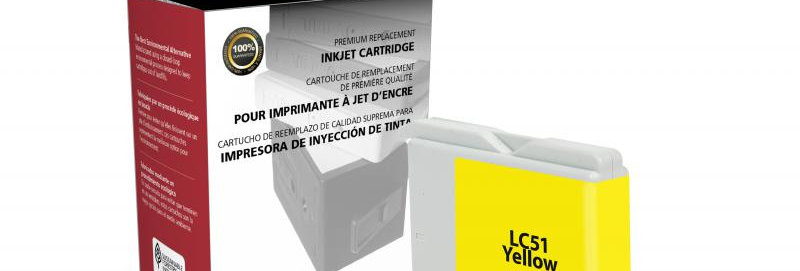Yellow Ink Cartridge for Brother LC51