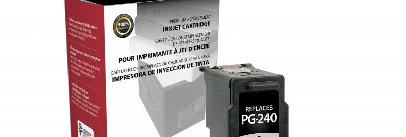 Black Ink Cartridge for Canon PG-240