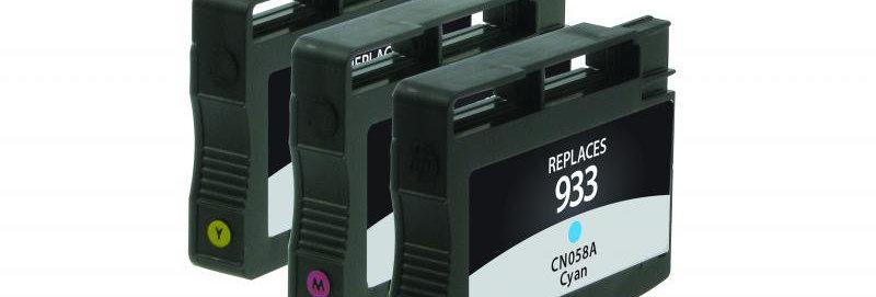 Cyan, Magenta, Yellow Ink Cartridges for HP N9H56FN (HP 933) 3-Pack