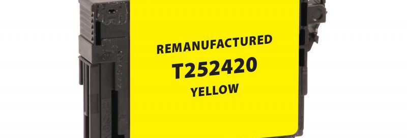 EPC Remanufactured Yellow Ink Cartridge for Epson T252420