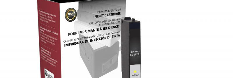 Non-OEM New High Yield Yellow Ink Cartridge for Canon CLI-271XL
