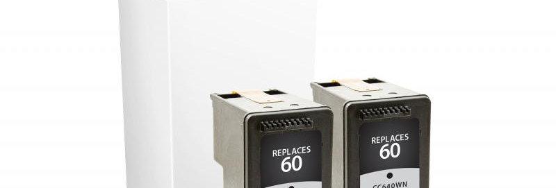 Black Ink Cartridges for HP 60 2-Pack