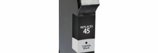 Non-OEM New 100% New Alternative Black Ink Cartridge for HP 51645A (HP 45)