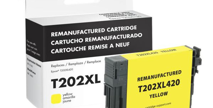 EPC Remanufactured High Capacity Yellow Ink Cartridge for Epson T202XL420