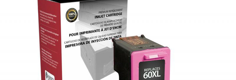 High Yield Tri-Color Ink Cartridge for HP CC644WN (HP 60XL)