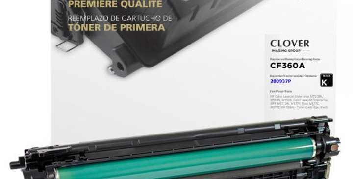 Black Toner Cartridge for HP CF360A (HP 508A)