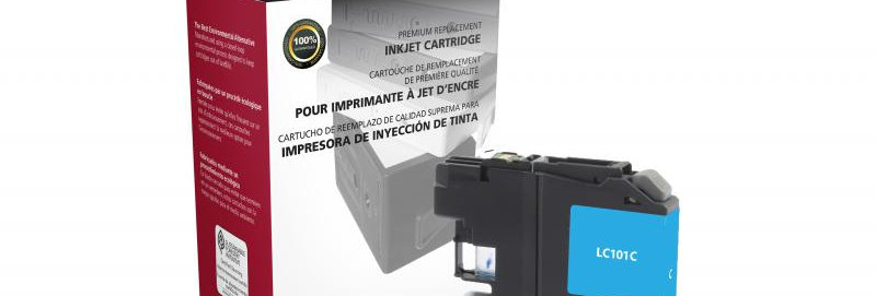 Non-OEM New Cyan Ink Cartridge for Brother LC101