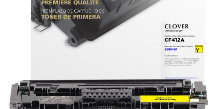 Yellow Toner Cartridge for HP CF412A (HP 410A)