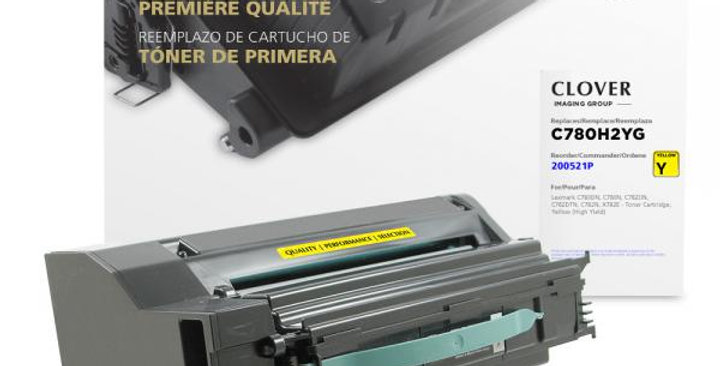 High Yield Yellow Toner Cartridge for Lexmark C780/C782/X782