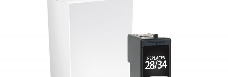 Black Ink Cartridge for Lexmark #28/#34