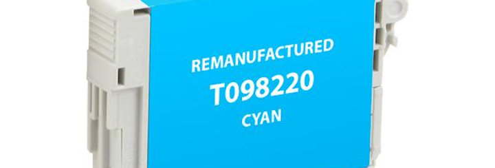 EPC Remanufactured High Capacity Cyan Ink Cartridge for Epson T098220