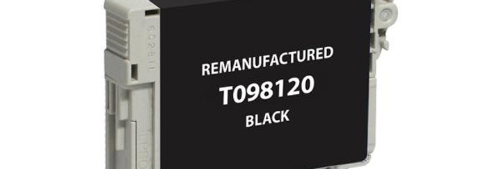 EPC Remanufactured Black Ink Cartridge for Epson T098120