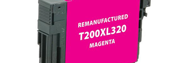 EPC Remanufactured High Capacity Magenta Ink Cartridge for Epson T200XL320