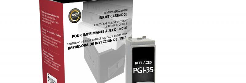 Non-OEM New Black Ink Cartridge for Canon PGI-35