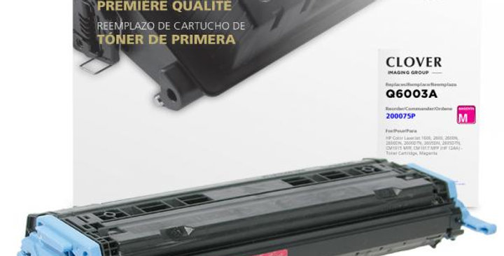 Magenta Toner Cartridge for HP Q6003A (HP 124A)