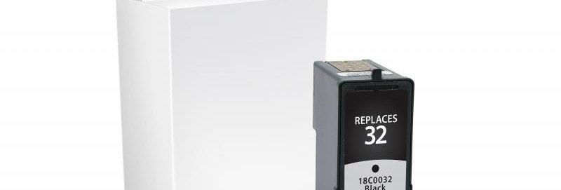 Black Ink Cartridge for Lexmark #32