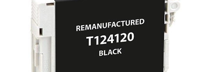 EPC Remanufactured Black Ink Cartridge for Epson T124120